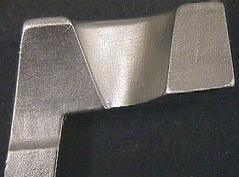 Closeup of stainless steel part